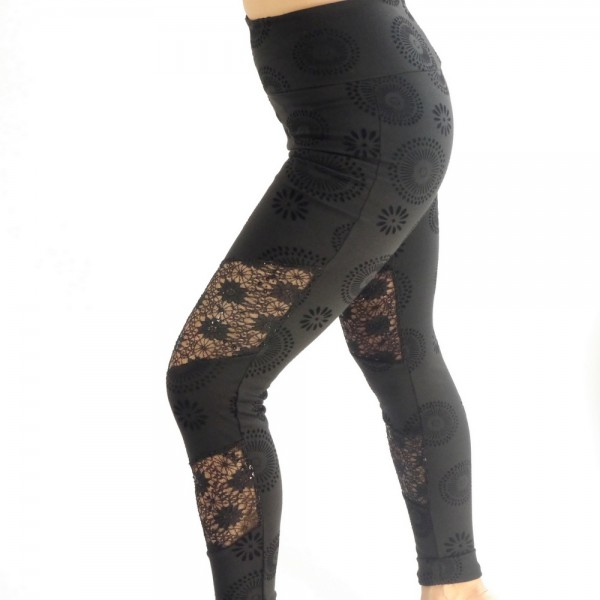 Leggings black sun