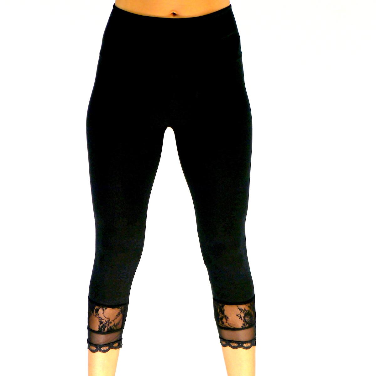 capri leggings adina mit spitze capri leggings. Black Bedroom Furniture Sets. Home Design Ideas