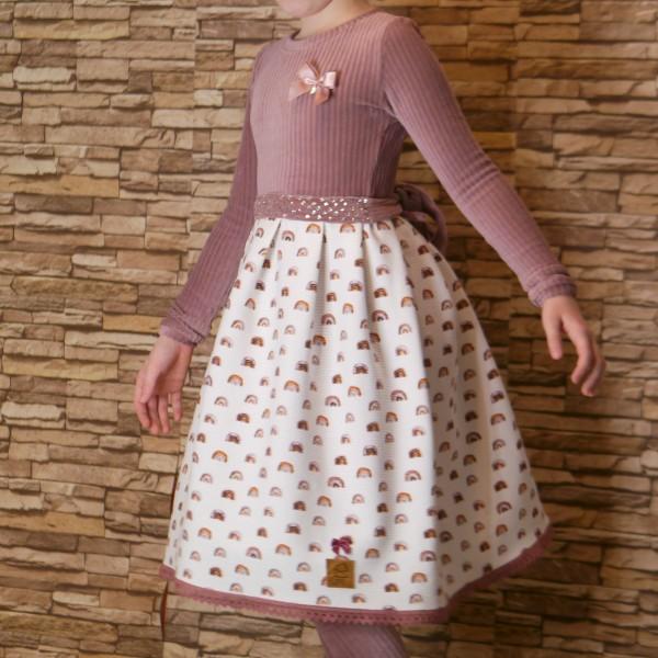 Kinder Kleid aus Cord und Jersey Stoff