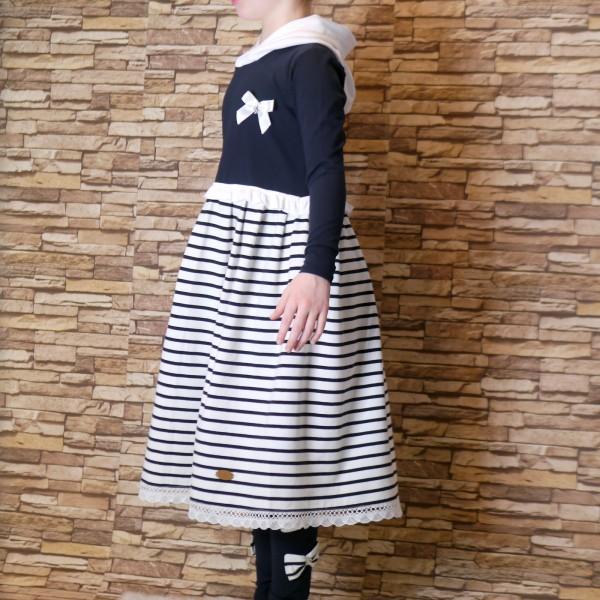 Mädchen Kleid aus Jerseybaumwolle