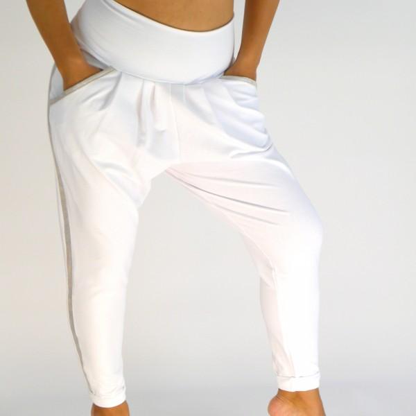 Weiße Hose aus Baumwolljersey Bianca