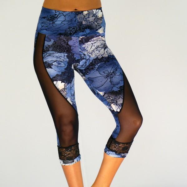 Capri Leggings mit Netz 2