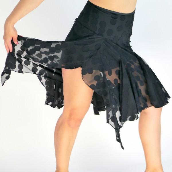 Schwarzer Rock mit integrierter Hose