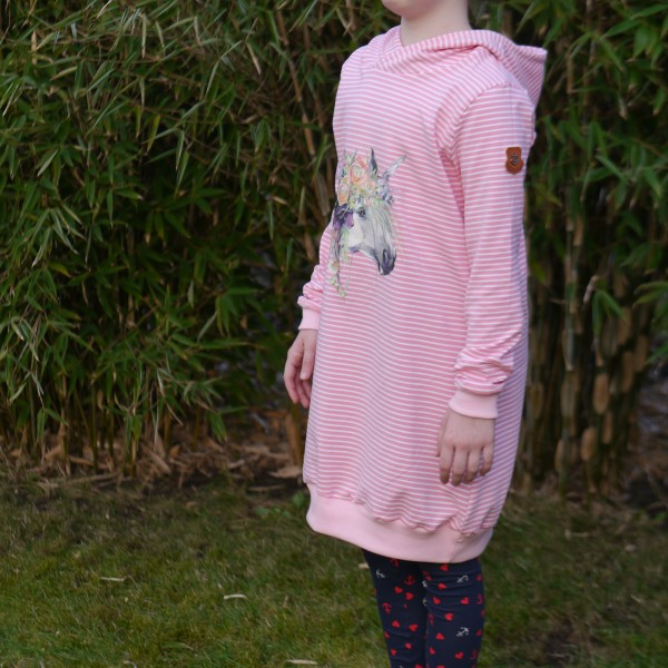 Ballonkleid, Kapuzenkleid, Hoodie-Kleid für Mädchen