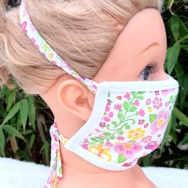 Wiederverwendbare Mund und Nasen Maske zum Binden aus Baumwolle
