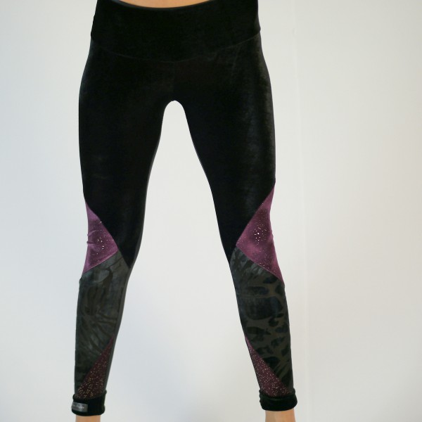 Leggings schwarz-bourdeaux