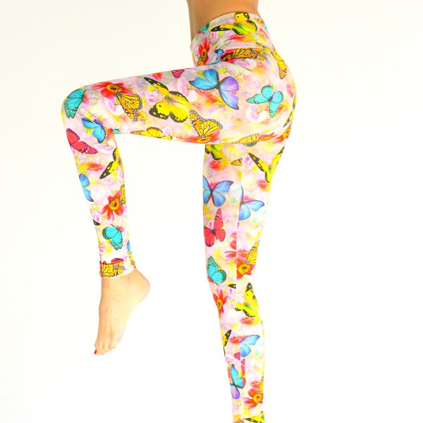 Leggings bunte Schmetterlinge