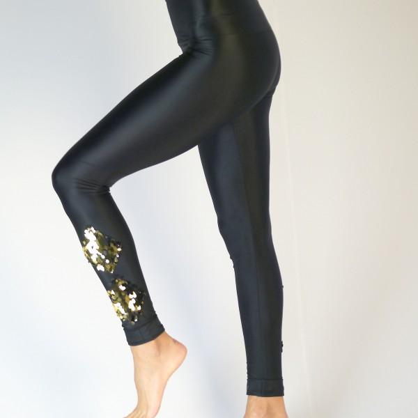 Leggings schwarz-gold