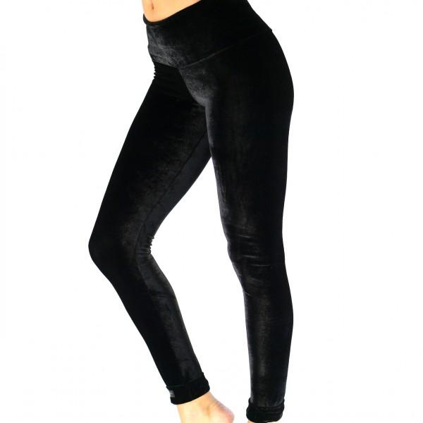 Leggings Samt schwarz