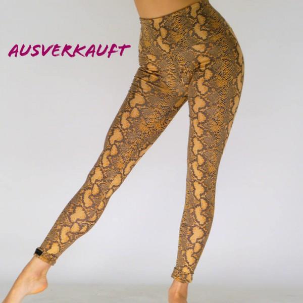 Braune Leggings aus Baumwolle mit Tier -Print ( Ausverkauft )