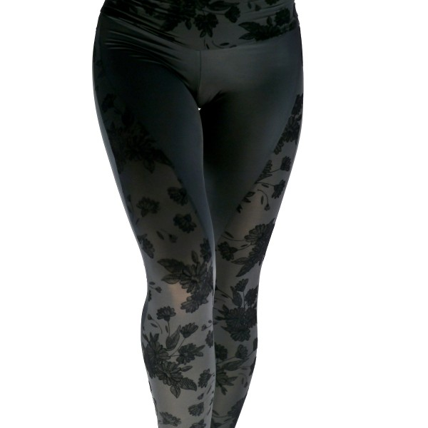 Leggings Halbtransparent + Samt