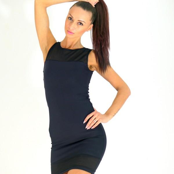 Kleid mit Netz