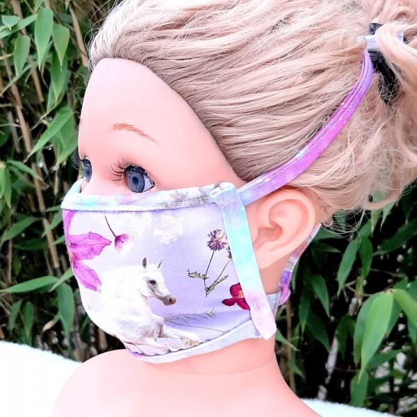 Wiederverwendbare Mund und Nasen Maske zum Binden