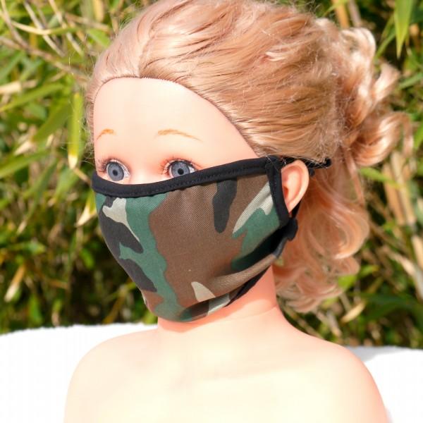 Wiederverwendbare Mund und Nasen Maske aus Baumwolle - Camouflage