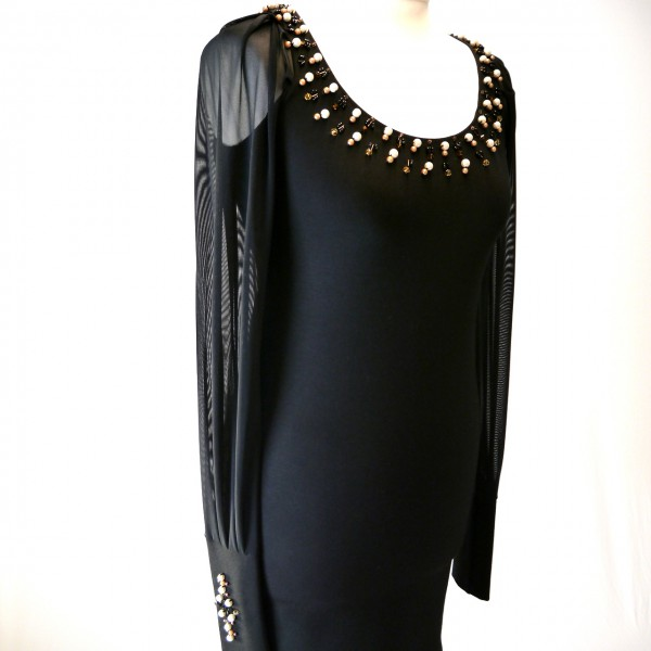Kleid mit Swarovski Perlen