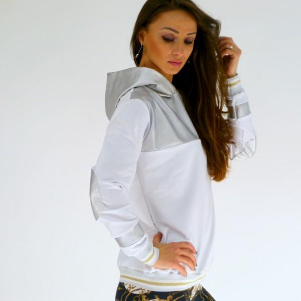 Sweatshirt aus Baumwolle mit Kapuze