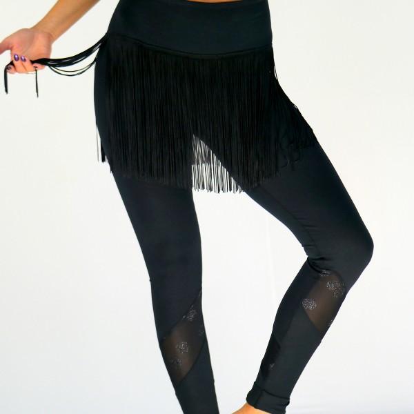 Leggings mit Fransen aus Baumwolle