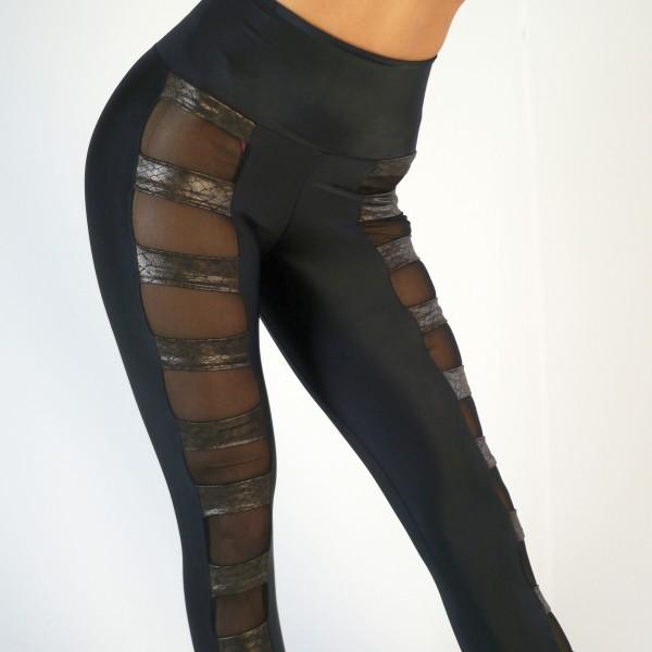 Leggings schwarz-braun